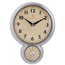 Cronometro/reloj pared alu 187x55x255