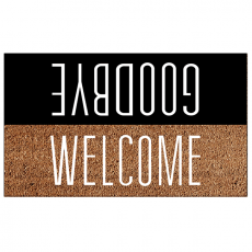 Doormat 73x43 welcome-goodbye c10